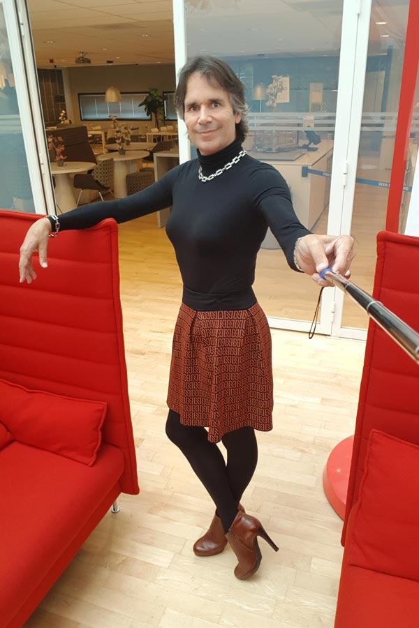 Transgender stylist Gabby Hammett